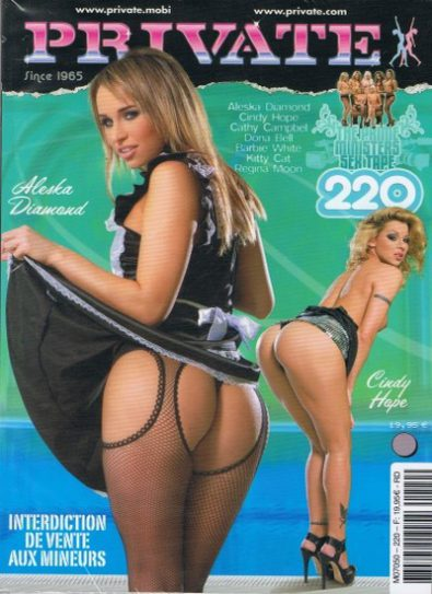 Front cover of Private 220 magazine