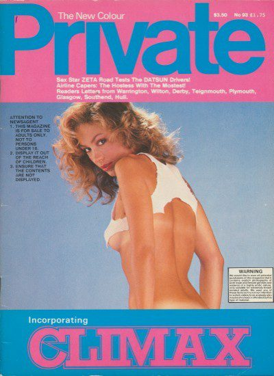 Front cover of Private No 93 magazine
