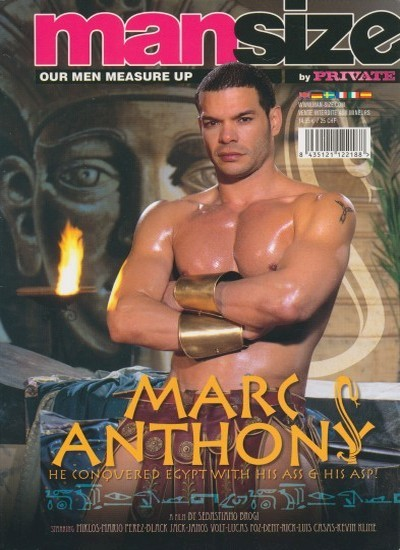 Front cover of Private Man Size Marc Anthony magazine