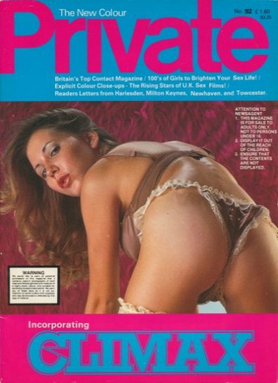 Front cover of Private Climax No 92 magazine
