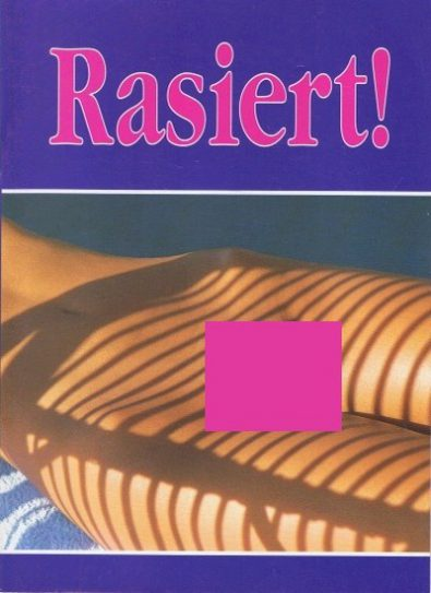 Front cover of Rasiert magazine