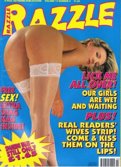 Front cover of Razzle Volume 13 No 2 magazine