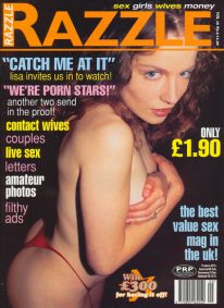 Front cover of Razzle Volume 16 No 9 magazine