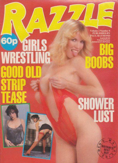Front cover of Razzle Volume 02 No 8 magazine