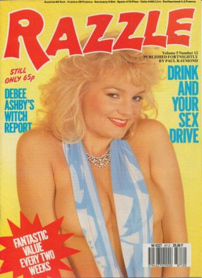 Front cover of Razzle Volume 5 No 12 magazine