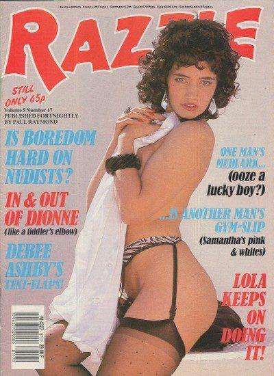 Front cover of Razzle Volume 5 No 17 magazine