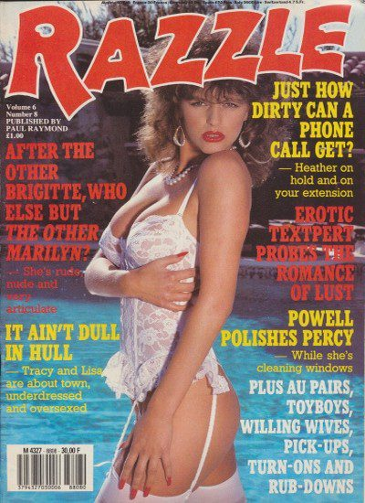 Front cover of Razzle Volume 06 No 8 magazine