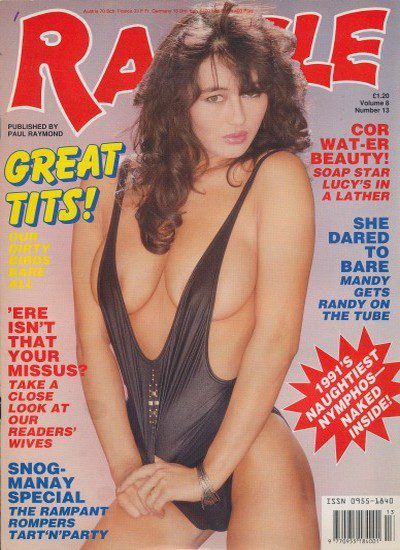 Front cover of razzle Volume 8 No 13 magazine