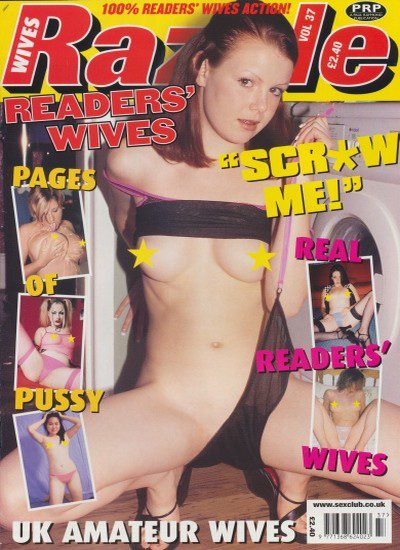 Front cover of Razzle Readers Wives No 37 magazine