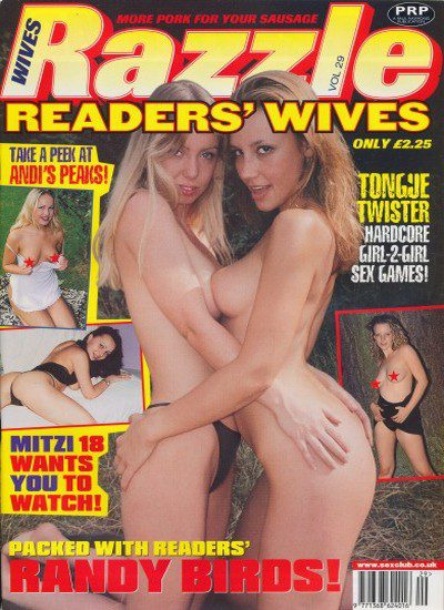 Front cover of Razzle Readers Wives No 29 magazine