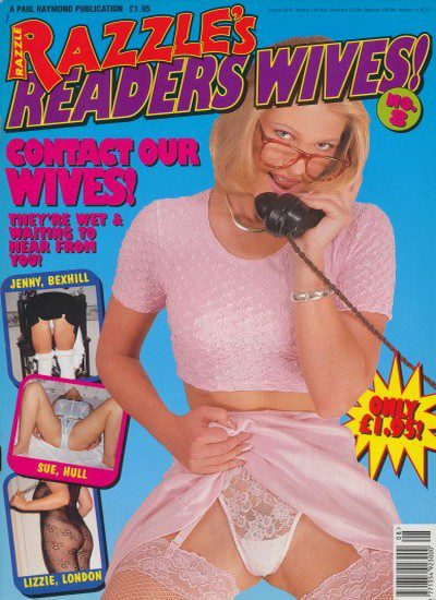 Front cover of Razzles Readers Wives no 8 magazine