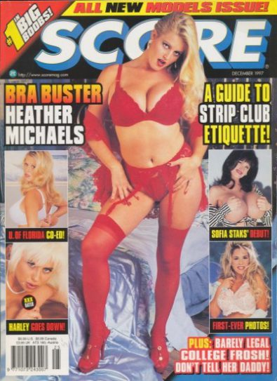 Front cover of Score December 1997 magazine