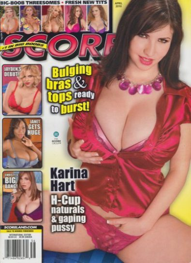 Front cover of Score April 2010 magazine