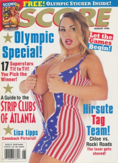 Front cover of Score August 1996 magazine