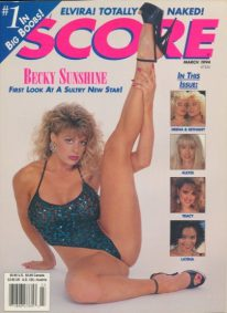 Front cover of Score March 1994 magazine