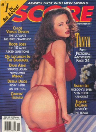 Front cover of Score November 1994 magazine