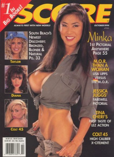 Front cover of Score October 1994 magazine