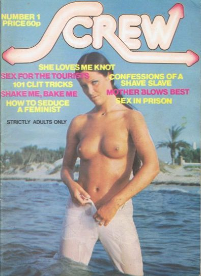 Front cover of Screw Volume 1 No 1 magazine