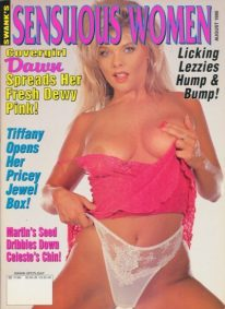 Front cover of Sensuous Women August 1995 magazine