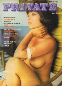 Front cover of Private Issue 25 magazine