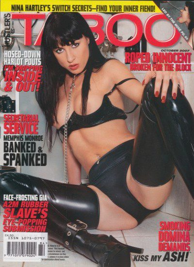 Front cover of Taboo October 2007 magazine