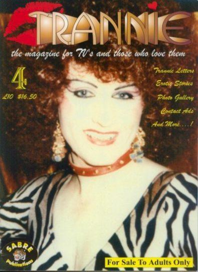 Front cover of Trannie No 4 magazine