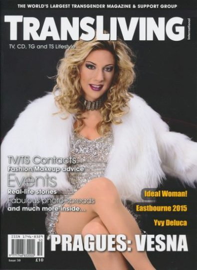 Front cover of Transliving Issue 50 magazine
