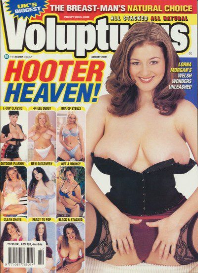 Front cover of Voluptuous August 2001 magazine