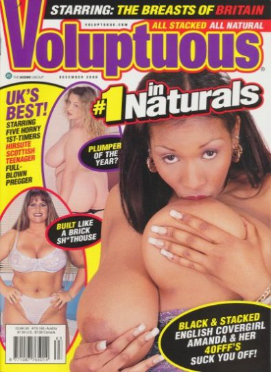 Front cover of Voluptuous December 2000 magazine