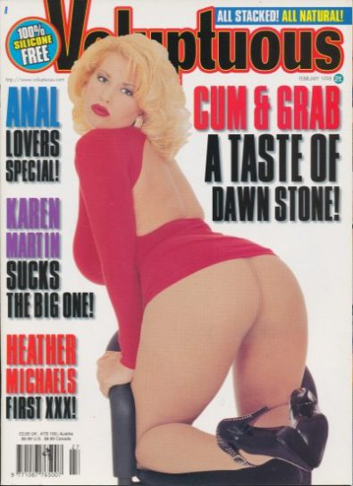 Front cover of Voluptuous February 1998 magazine
