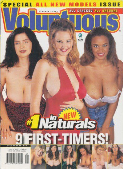 Front cover of Voluptuous February 2001 magazine