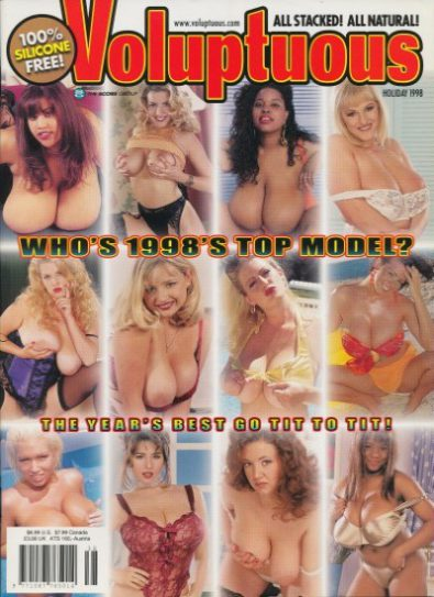 Front cover of Voluptuous Holiday 1998 magazine