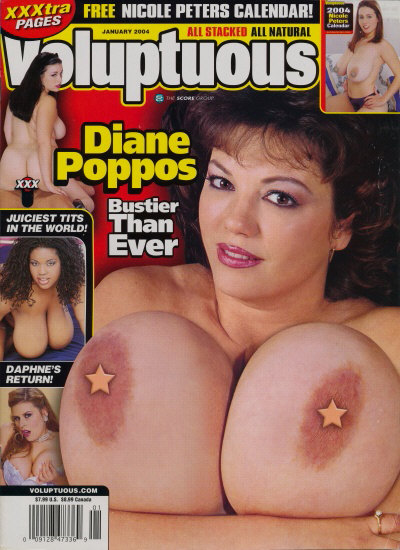 Front cover of Voluptuous January 2004 magazine