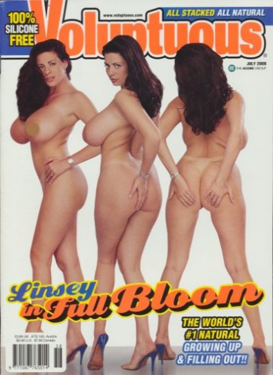 Front cover of Voluptuous July 2000 magazine