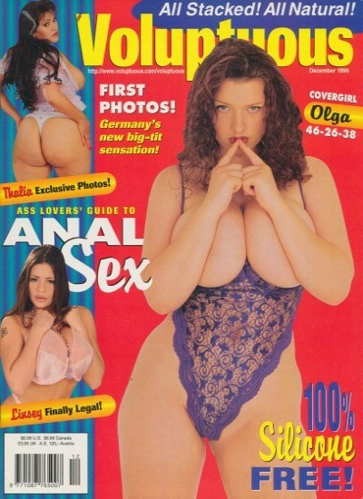 Front cover of Voluptuous December 1996 magazine