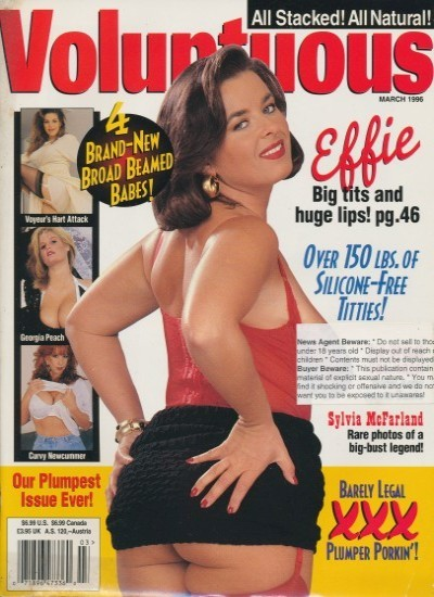 Front cover of Voluptuous March 1996 magazine