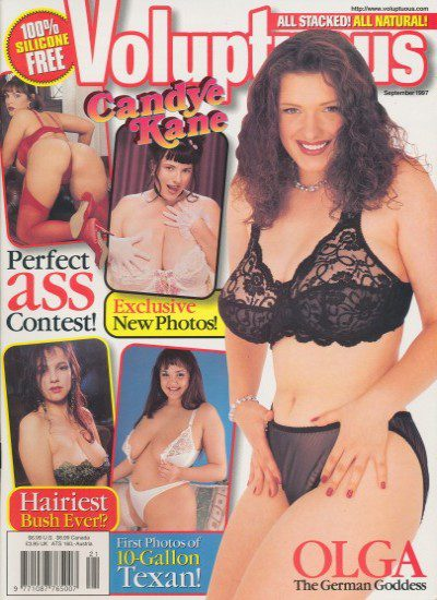 Front cover of Voluptuous September 1997 magazine