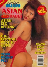 Front cover of Electric Blue Asian Babes Volume 2 Number 11 magazine