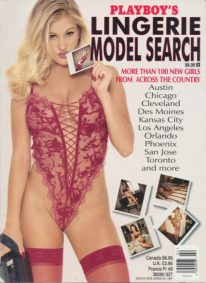 Front cover of Playboy's Lingerie Model Search March 1997 magazine