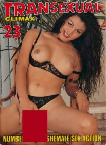Front cover of Transexual Climax 23 magazine
