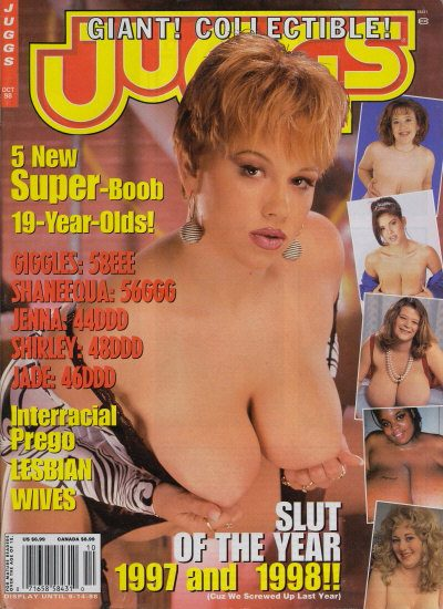 Front cover of Juggs October 1998 magazine