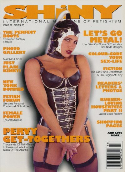 Front cover of Shiny 92 magazine