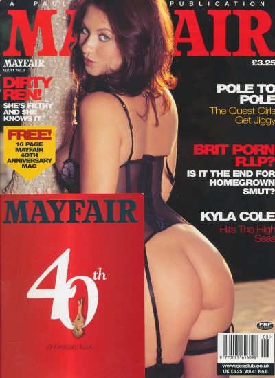 Front cover of Mayfair Volume 41 Number 8 magazine