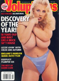 Front cover of Voluptuous April 2000 magazine