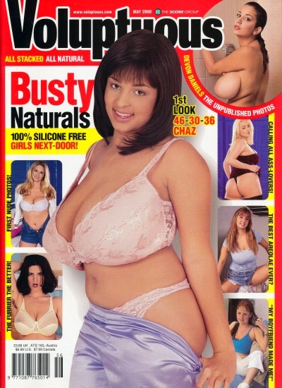 Front cover of Voluptuous May 2000 magazine