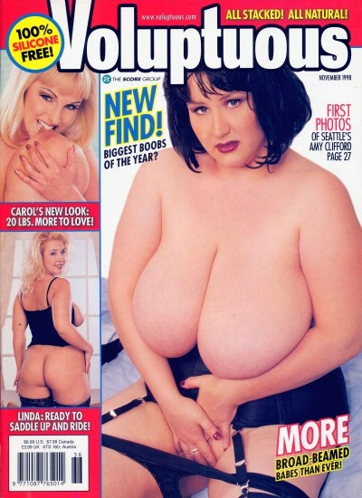 Front cover of Voluptuous November 1998 magazine