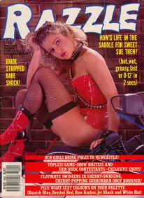 Front cover of Razzle Volume 6 No 9 magazine