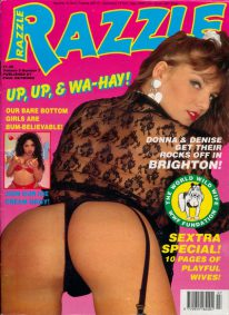 Front cover of Razzle Volume 9 No 7 magazine