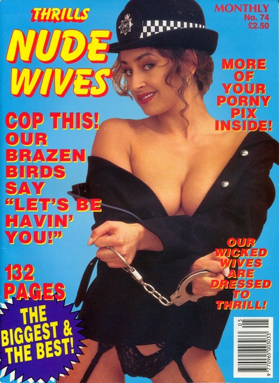 Front cover of Thrills Nude Wives No 74 magazine
