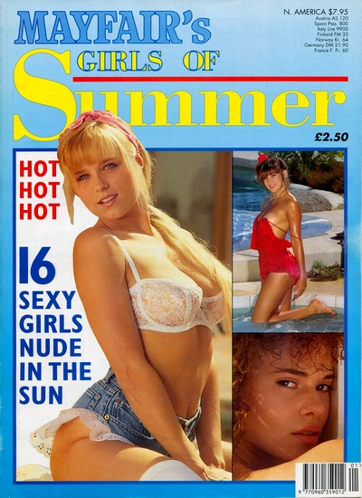 Front cover of Mayfair Girls of Summer No 5 magazine